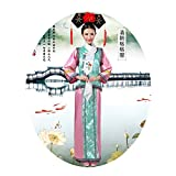 The Qing Dynasty Costume/The Princess Dress/Ancient Chinese Cosplay/Emperors Clothing/New Year's Dress/Halloween Costume/Campus Party Dress/Bridal Gowns/Spring Festival/Traditional Clothes + Hat/B-1