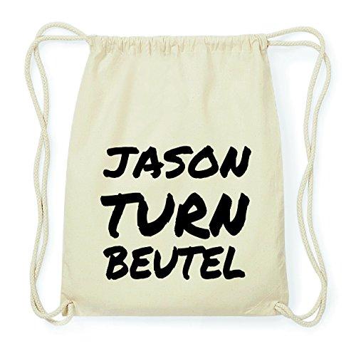 JOllify JASON Hipster Turnbeutel Tasche Rucksack aus Baumwolle - Farbe: natur Design: Turnbeutel i2RnZ