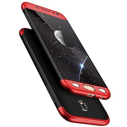 size 40 e66ca fd96e TheGiftKart 360 Degree Back Cover for Samsung J7 Pro (Black and Red)