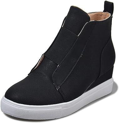 LIURUIJIA Women's Heel Platform Casual