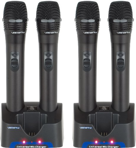 VOCOPRO UHR 5805 Handheld Rechargeable Microphones with Charging Stations by VocoPro