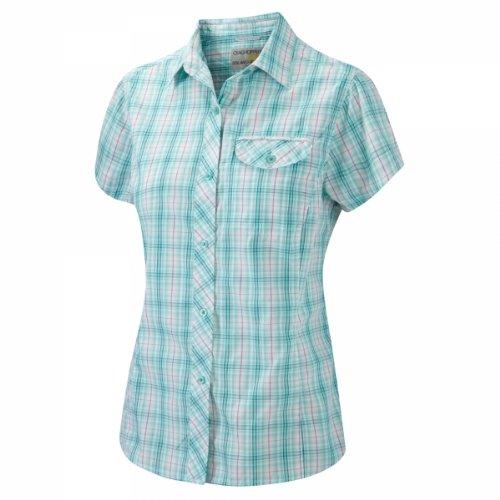 Craghoppers Bluse Karina Short Sleeve - Camisa / Camiseta para mujer, color multicolor, talla DE: 8