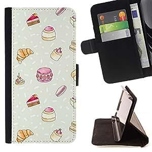 Momo Phone Case / Flip Funda de Cuero Case Cover - Dulces Pastelería francesa Chef Kids - Samsung Galaxy E5 E500