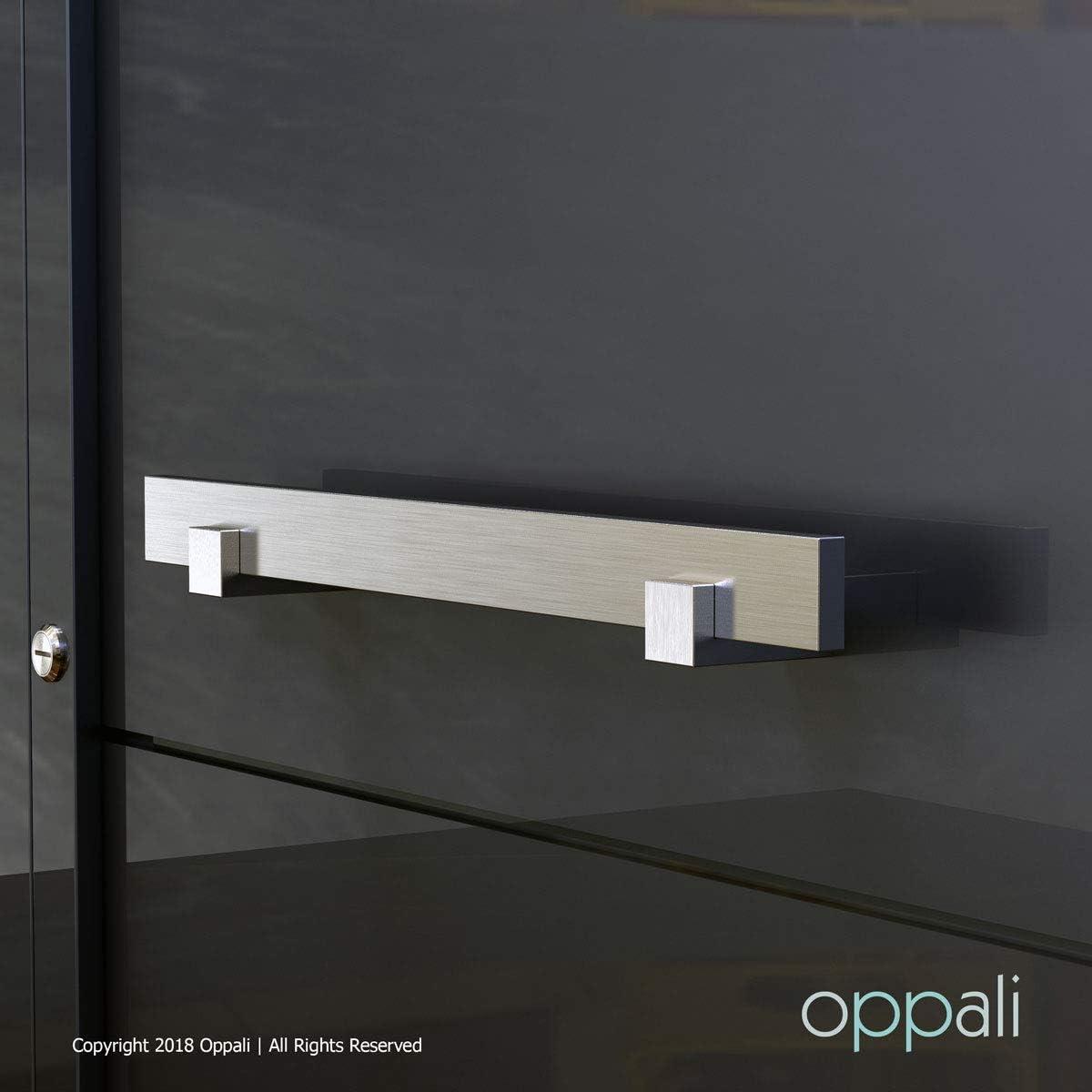 40cm - 16 Inches Longueur Oppali Poign/ée carr/ée en acier inoxydable Poign/ée de porte dentr/ée Art.580 T-bar
