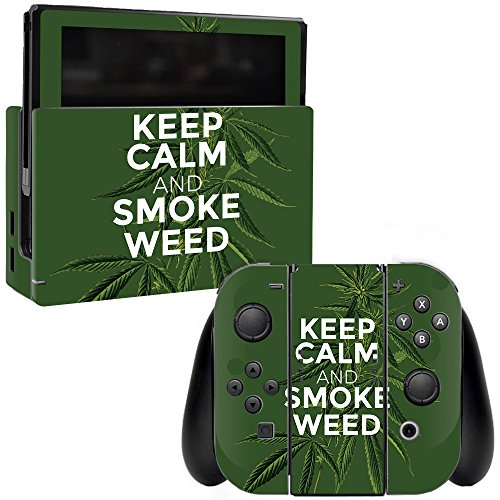 MightySkins Skin Compatible with Nintendo Switch - Smoke Weed | Protective, Durable, and Unique Vinyl Decal wrap Cover | Easy to Apply, Remove, and Change Styles | Made in The USA