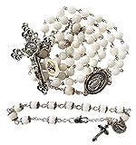 River pearl Rosary beads + Bracelet - Catholic