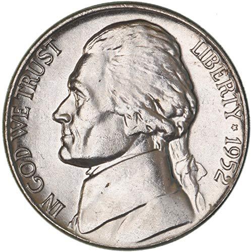 1952 D Jefferson Nickel Brilliant Uncirculated
