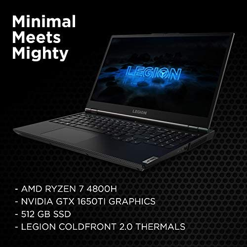 Lenovo Legion 5 Gaming Laptop, 15″ FHD (1920×1080) IPS Screen, AMD Ryzen 7 4800H Processor, 16GB DDR4, 512GB SSD, NVIDIA GTX 1660Ti, Windows 10, 82B1000AUS, Phantom Black 51eW4KP 2BSWL
