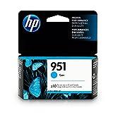HP 951 Ink Cartridge, Cyan (CN050AN) for HP Officejet Pro 251, 276, 8100, 8600, 8610, 8620, 8625, 8630