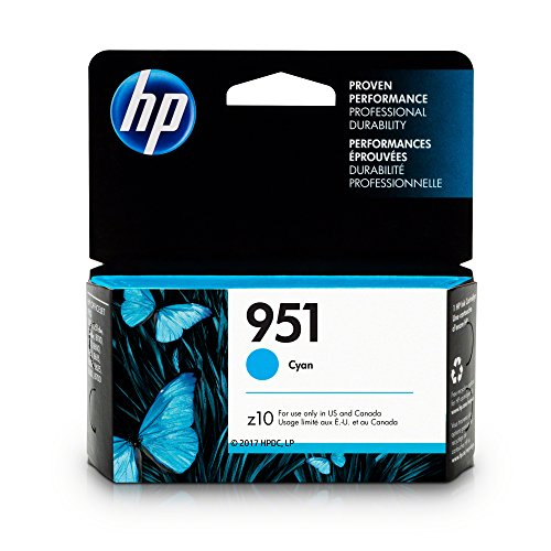 HP CN050AN#140 951 Ink Cartridge, Cyan  for Officejet Pro 25