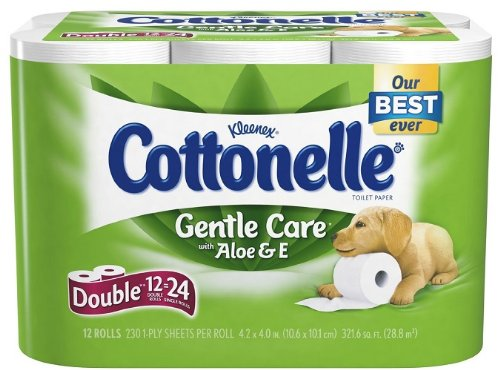 Cottonelle Gentle Care Bath Tissue with Aloe & Vitamin E, Do