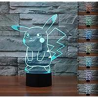 SMIN Luz de noche LED fantasma 3D, lámpara