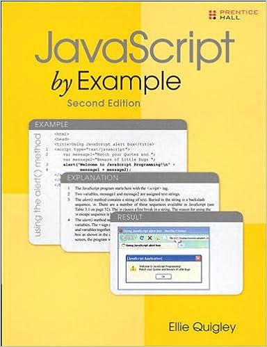 9780131401624: javascript by example abebooks ellie quigley.