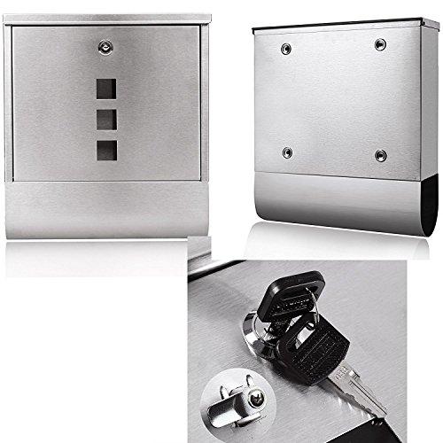 Garain Stainless Steel Mailbox Wall Mount Modern Secure