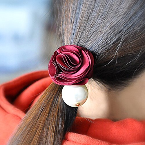 kakatm-women-girl-fashion-elegance-red-camellia-pearl-decorate-stretchy-hair-rope-band-accessories