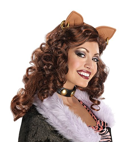 Monster High Costumes Adult (Monster High Clawdeen Wolf Wig, Red, One Size)