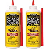 Harris Boric Acid Roach and Silverfish Killer Powder w/Lure (16oz (2-Pack))
