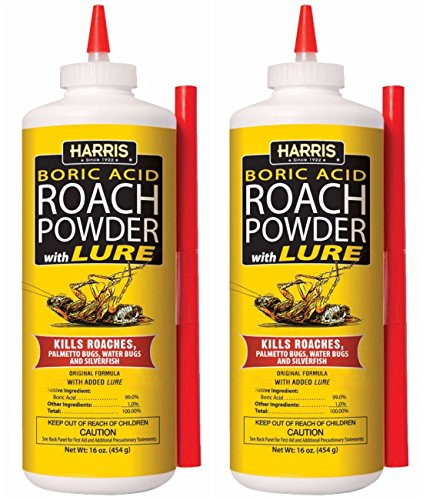 Harris Boric Acid Roach and Silverfish Killer Powder w/Lure