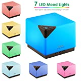 TomCare 700ml Square Aromatherapy Essential Oil Diffuser Humidifier Large Capacity Modern Ultrasonic Aroma Diffusers Running 20+ Hours 7 Color Changing for Home Baby Bedroom Office Study Yoga Spa