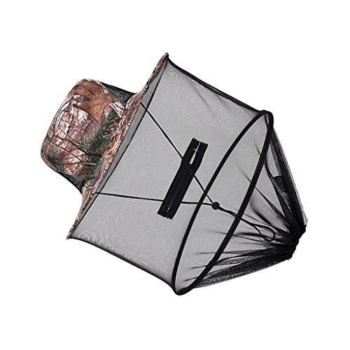 FidgetFidget Hat with Fine Mesh Mosquito Head Neck Protection Net Hood Leaf Camo by FidgetFidget