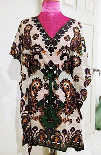 Gypsy Kaftan - African Shirt Boho Hippie Gypsy Tunic Kaftan Poncho Vintage Women Cloth