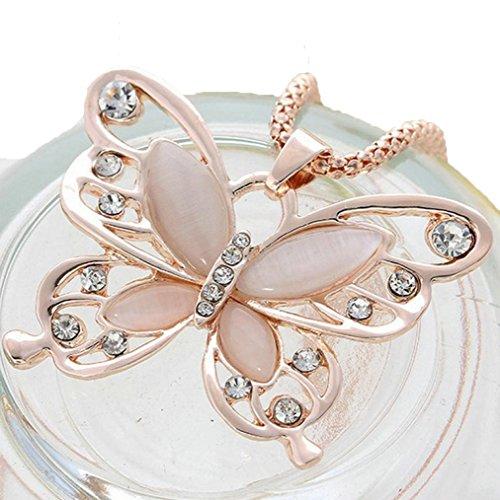 [Usstore Pendants Women Butterfly Necklace Sweater Chain Jewelry Gift] (Butterfly Costume Jewelry)