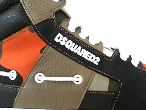 Dsquared, Mannen Sneaker Veelkleurige Camouflage Corallo