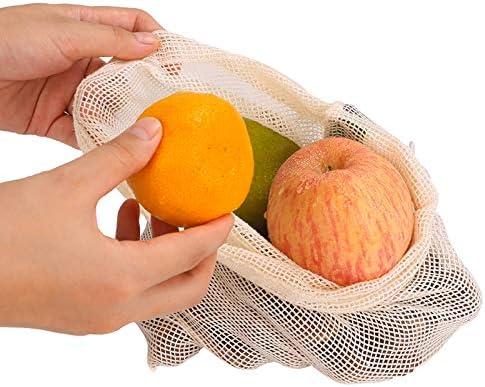 Meiruier 9pcs Bolsa Reutilizable Algodon de Vegetales,Bolsa de ...