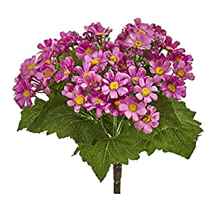 Nearly Natural 2287-S6-MA Daisy Bush Artificial (Set of 6) Silk Flowers, Mauve 34