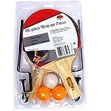 KIT Ping Pong 2 Raquetes + 3 bolinhas + Rede com suporte