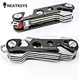 Smart Compact Key Holder Organizes Keys Neatly | Made of Lightweight, Strong, Durable Zinc Alloy | 12-18 Keys | Fits on Pocket Or Purse | Sleek & Stylish | Multifunctional