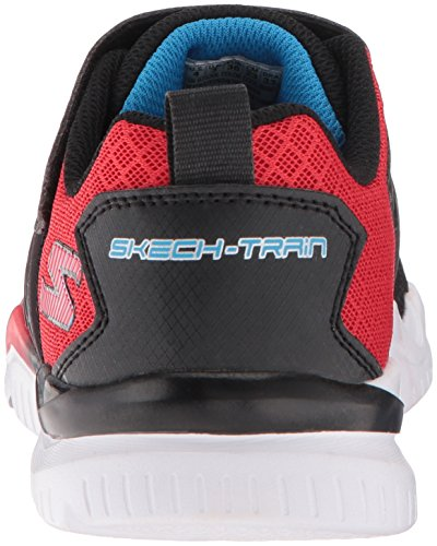 Skechers Skech-Train Kids/Boys Slip On Loop Closure Blue Trainers - 97530, Bleu marine, 2 UK