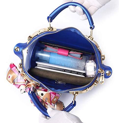 Rivetto Solido In Donna Con Portatile Retro Tracolla Pink Da Zip Pvc A Wdbao Scrub Colore Gelatina RqnAFEBw