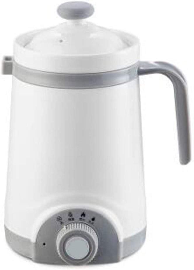 Kettle Mini Automatic Electric Kettle Boiler Ceramics Soup Stew Porridge Slow Cooker Milk Heater Hot Water Heating Cup Health Pot (Color : Light Grey)
