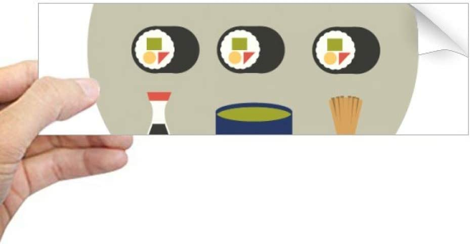 DIYthinker Traditional Japanese Local Food Sushi Rectangle Bumper Sticker Notebook Window Decal