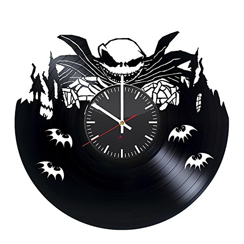 BorschToday Nightmare Before Christmas Vinyl Record Wall Clock - Get Unique Home Room Wall Decor - Gift Ideas for Men and Women ??