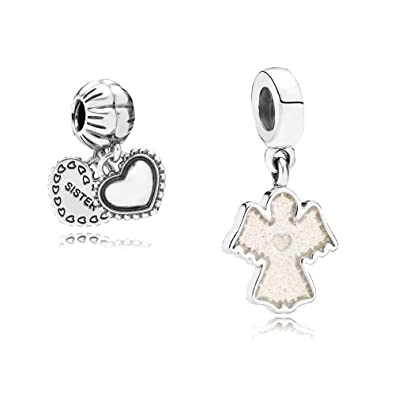 51f267154 Original Pandora gift set - 1 Sparkling Angel Pendant Charm 791238EN51 and  1 My Special Sister Pendant Charm 791383: Amazon.co.uk: Jewellery