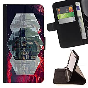 DEVIL CASE - FOR Apple Iphone 6 PLUS 5.5 - gorod ulica lyudi linii - Style PU Leather Case Wallet Flip Stand Flap Closure Cover