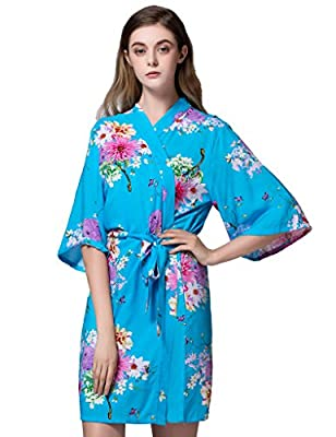 Isoft Women's Short Kimono Robes, Bridesmaid robe and gift