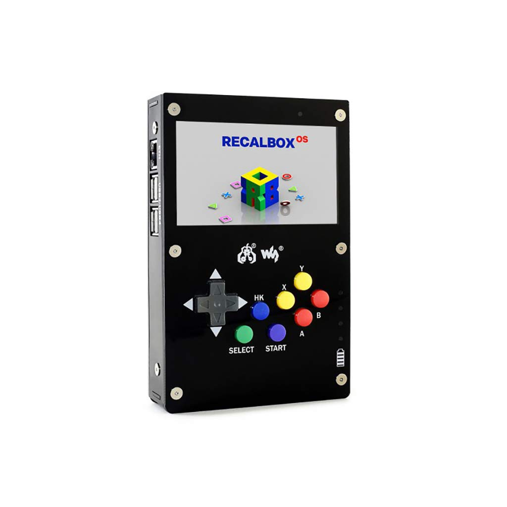 waveshare GamePi43 Portable Retro Video Game Console Based on Raspberry Pi with Raspberry Pi 3B+ Inside 4.3inch IPS Display 60 fps Smooth Gaming Experience by waveshare