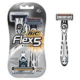 Beauty : BIC Flex 5 Disposable Razor, Men, 3-Count