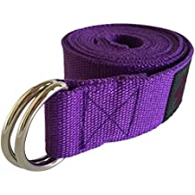 Clever Yoga Yoga Strap – Durable Cotton Exercise Straps – Standard 8FT Or Extra Long 10FT Straps - Adjustable D-Ring Buckle Gives Flexibility For Yoga, Stretching & General Fitness– From