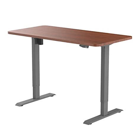 Enjoyable Flexispot En1S R5528N Electric Height Adjustable Desk 55 X 28 Inches Home Office Sit Stand Up Desk Gray Frame 55 Inch Mahogany Top Download Free Architecture Designs Embacsunscenecom