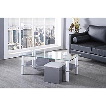 Poufs GrisCuisineamp; Maison 110x60cm Basse2 Table Octave lXiwOTPkZu