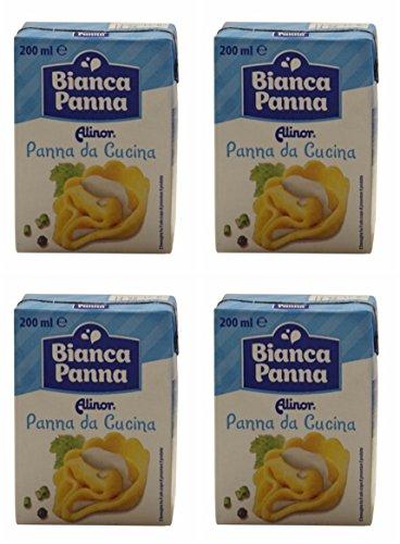 Alinor: Italian ''Panna Da Cucina'', UHT Cooking Cream * 6.7 Fluid Ounce (200ml) Packages (Pack of 4) * [ Italian Import ] by Alinor