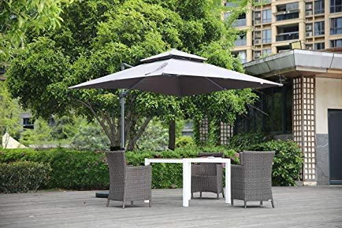 Angel Living Sombrilla Parasol Romano con Doble Techo, 2.65 X 2.65 ...