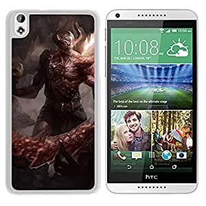 Unique DIY Designed Cover Case For HTC Desire 816 With Devil With A Bone Sword Fantasy Mobile Wallpaper (2) Phone Case