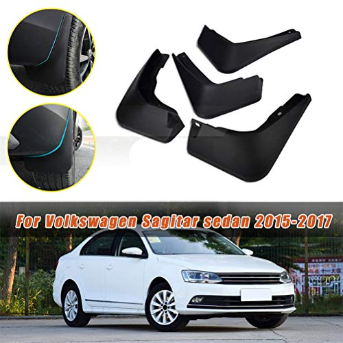 Maiqiken Car Mud Flaps Splash Guards for Volkswagen VW Jetta Sedan 2012-2014,2015-2017 Fender Flares Mudflaps Mudguards Molded Front & Rear Wheel 4Pcs