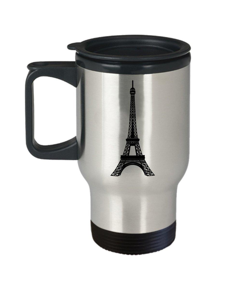 Amazoncom Paris Themed Travel Mug Souvenir Eiffel Tower