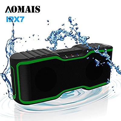 Waterproof IPX7 Wireless Bluetooth Speakers,AOMAIS Sport Outdoor/Shower Portable Bluetooth Speakers with 12W Enhanced Bass,Built-In Microphone for iphone/ipad/ipod/Android phone